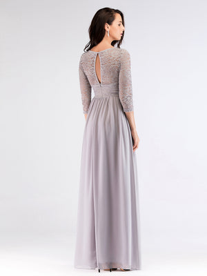 Ever-Pretty Long Lace Green Evening Bridesmaid Dresses EZ07680