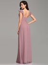 Elegant A Line V Neck Long Bridesmaid Dresses Ez07737-Mauve 2