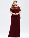 Elegant A Line Lace Floor Length Party Dress Ez07752-Burgundy 8