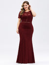 Elegant A Line Lace Floor Length Party Dress Ez07752-Burgundy 9
