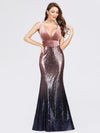 Maxi Long Velvet And Sequin Mermaid Wholesale Prom Dresses-Orchid 3