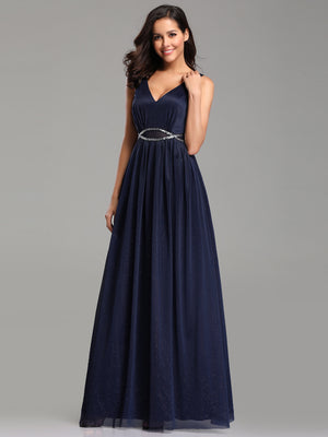 Ever-Pretty Maxi Long Prom Dresses with Diamond Belt EZ07793