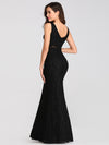 Slim Fit Classic Fishtail Lace Dresses Ez07795-Black 2