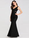 Slim Fit Classic Fishtail Lace Dresses Ez07795-Black 3