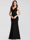 Slim Fit Classic Fishtail Lace Dresses Ez07795-Black 4