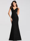Slim Fit Classic Fishtail Lace Dresses Ez07795-Black 1