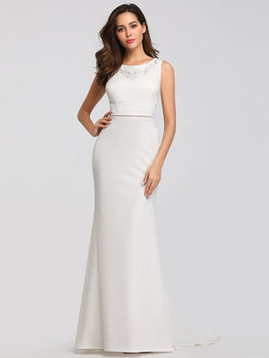 Ever-Pretty Classic Fishtail Wedding Dresses Without Sleeve EZ07804