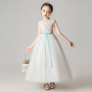 Ever-Pretty Lovely O-Neck Flower Girl Dresses Ball Gown Floral Appliques CG03394 (4162949152829)