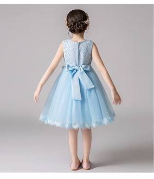 Ever-Pretty Lace Appliques Bow Sashes Wedding Pageant Flower Girl Dresses CG03386 (4162959441981)