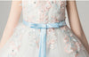 Lovely O-Neck Flower Girl Dresses Ball Gown Floral Appliques Cg03394-White 6