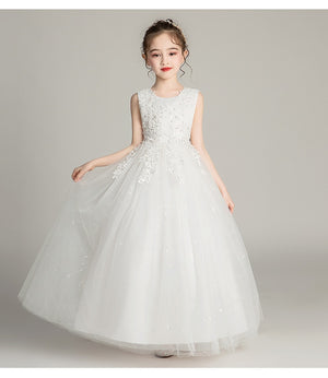 Ever-Pretty Cute Lace O-Neck Appliques Flower Girl Dresses For Wedding CG03387 (4162995978301)
