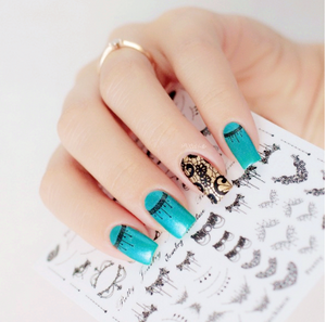 1 Sheet Lace Necklace 3D Nail Art Stickers