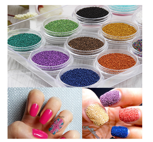 3D Steel Ball Caviar Beads Manicure Glitter Nail Art Decoration