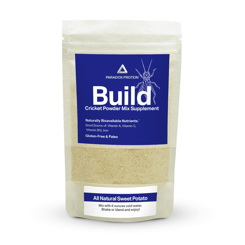 BUILD CRICKET POWDER MIX SUPPLEMENT – SWEET POTATO (REGULAR) - ParadoxProtein