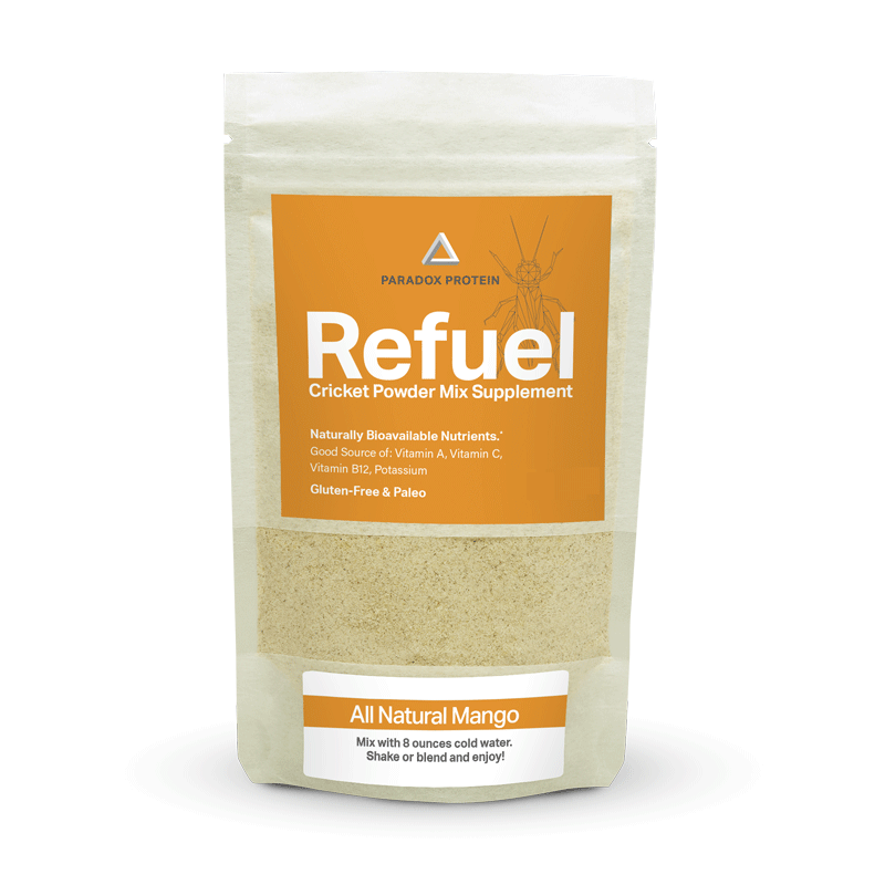 REFUEL CRICKET POWDER MIX SUPPLEMENT – MANGO (REGULAR) - ParadoxProtein