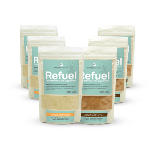 REFUEL CRICKET POWDER MIX SUPPLEMENT - 6 PACK - LARGE - ParadoxProtein