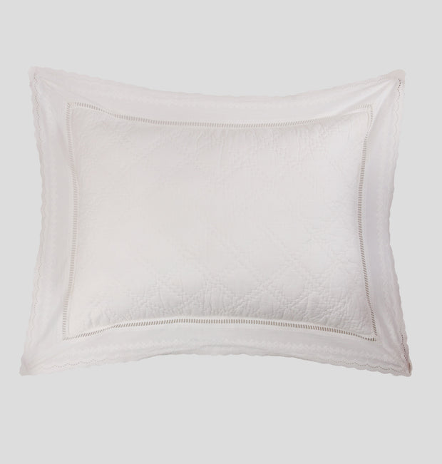 White Laced Pillow Sham - DaOneHomes