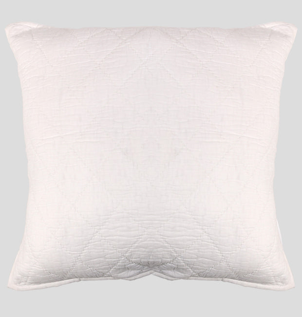 White Double Diamond Euro Sham - DaOneHomes