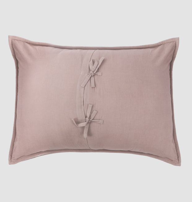 Soft Blush Embellished Pillow Sham - DaOneHomes