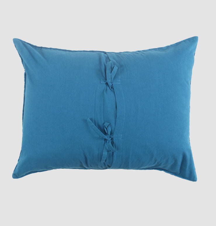 Sailor Blue Velvet Pillow Sham - DaOneHomes
