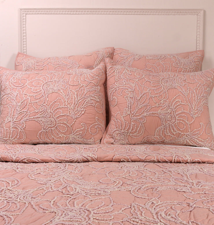 VINTAGE ROSE PINK TWIN BED SET - DaOneHomes