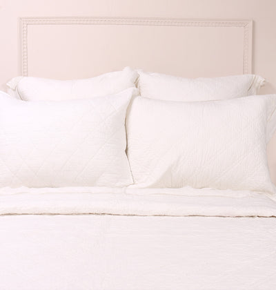 WHITE COTTON FLEX KING BED SET - DaOneHomes