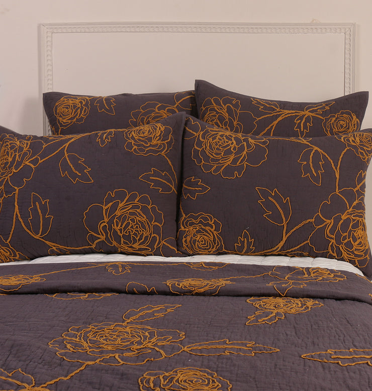 PURPLE COTTON FLAX TWIN BED SET - DaOneHomes