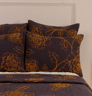 Honey Grey Garden Euro Sham - DaOneHomes
