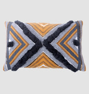 Honey Grey Intersection Cushion - DaOneHomes