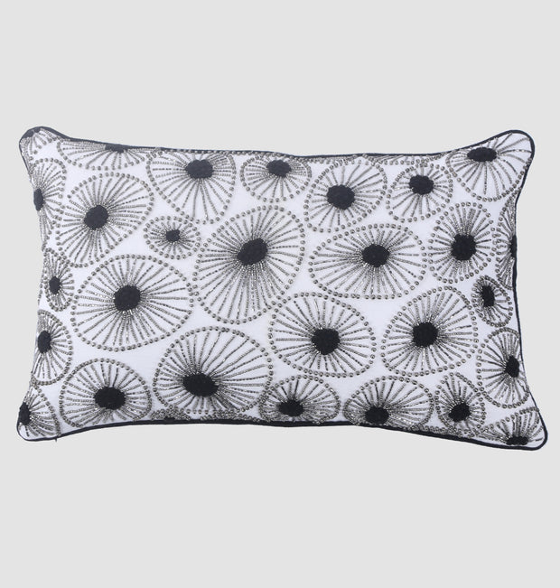 Black Beaded Amoeba Cushion - DaOneHomes