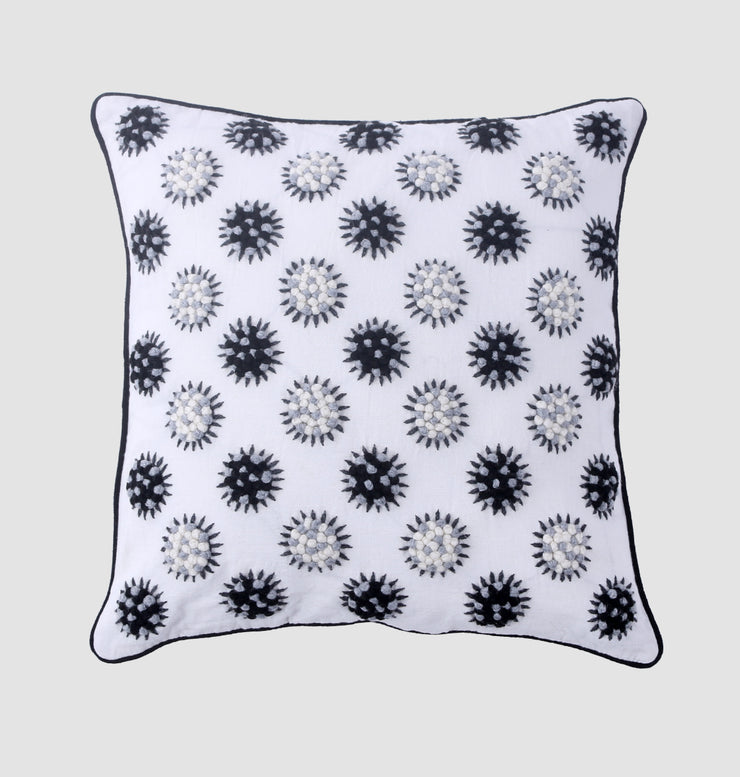 Black & White French Knot Cushion - DaOneHomes
