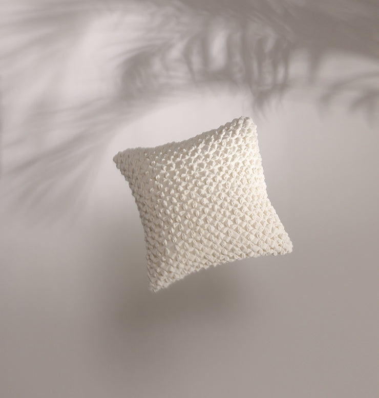 Coconut Velvet Star Cushion - DaOneHomes