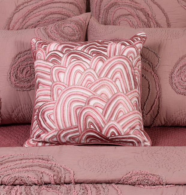 Rose Pink Rainbow Cushion - DaOneHomes