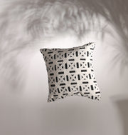 White Ribbon Perspective Cushion - DaOneHomes