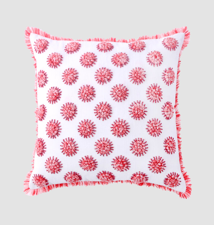 Pink French Knot Cushion - DaOneHomes