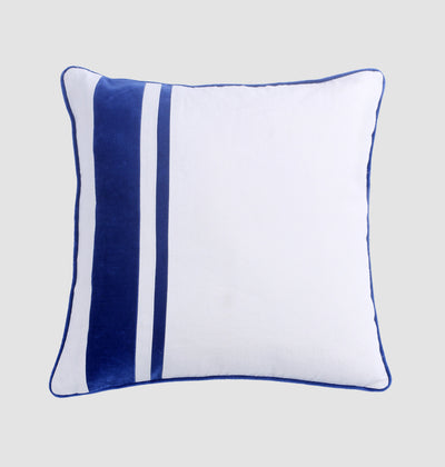 White Left Stripe Cushion - DaOneHomes