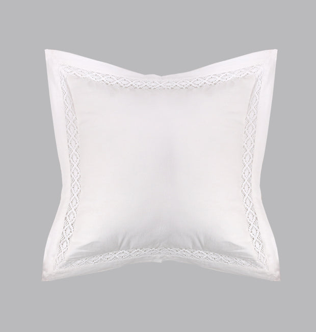 White Crochet Elegance Cushion - DaOneHomes