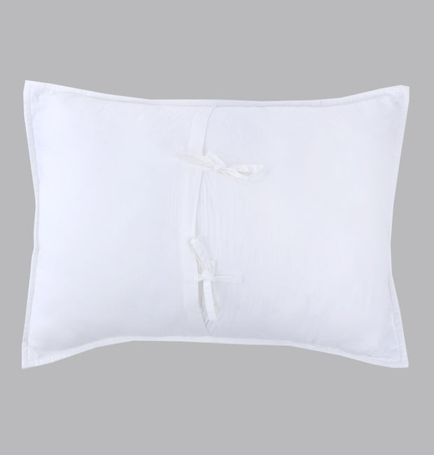 White Herringbone Textured Pillow Sham - DaOneHomes