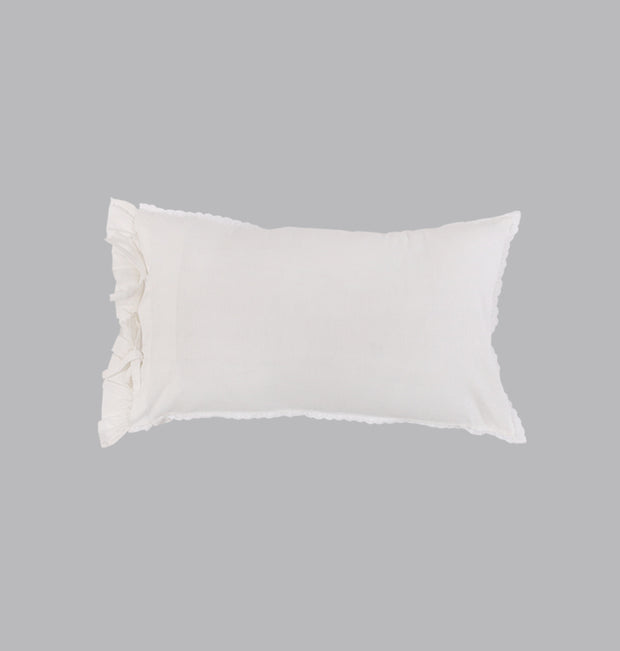 White Fun & Frills Cushion - DaOneHomes