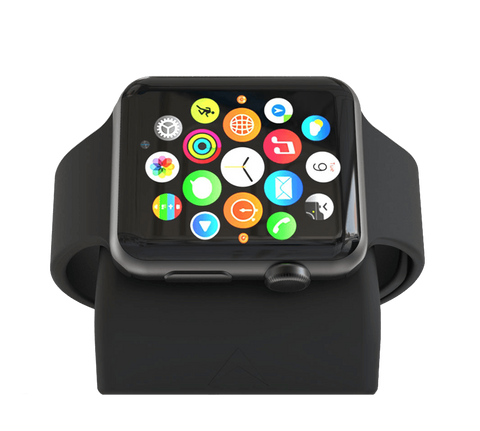 NS-100 #MatteBlack is the new black. A soft, matte finish that will look great with every Apple Watch and your bedside decor.