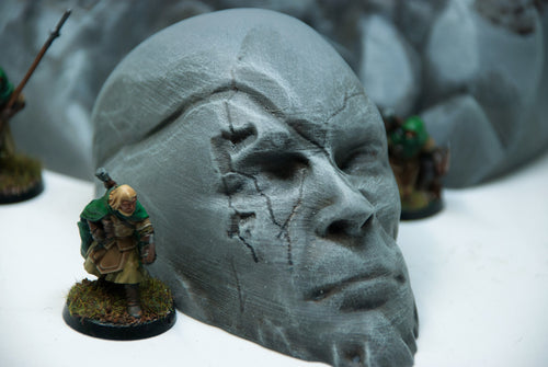 3D Hexes Stone Head 3