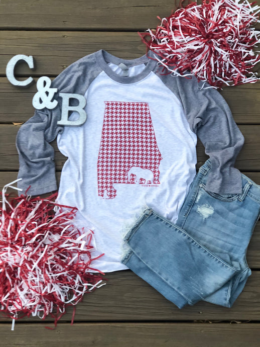 Red Houndstooth State of AL