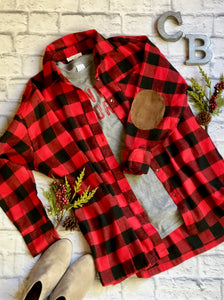 Flannel - Red and Black