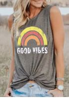Good Vibes Grey Tank