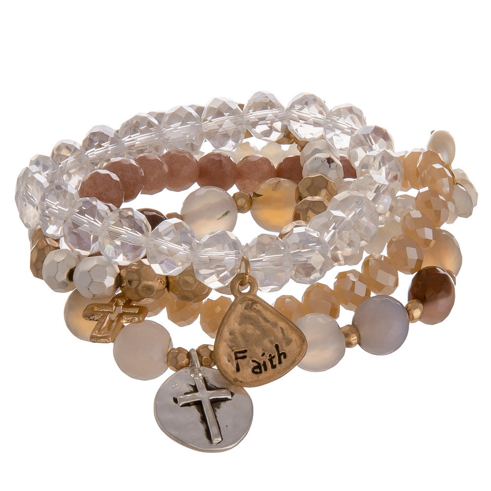 Faith Lovely Beads Bracelet
