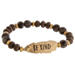 Be Kind Metal & Beads bracelet