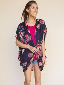Pop of Color Kimono (Plus Size)