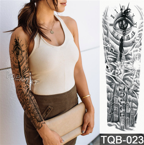 Waterproof Temporary Arm Sleeve Tattoo