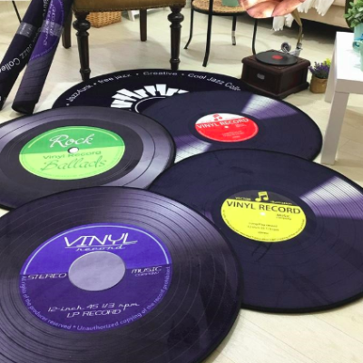 Vinyl Record Carpet