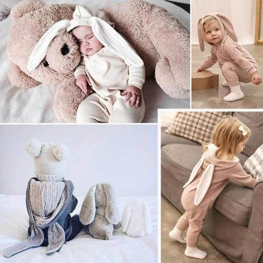 Baby - Warm Bunny Rompers